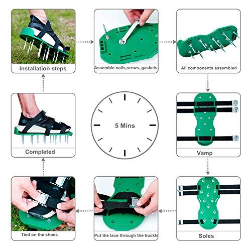 Finrezio Lawn Aerator Shoes,Spikes Lawn Aerator Sandals for Aerating by Finrezio (Image #3)