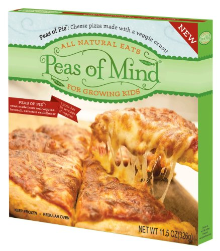 Peas of Pie, Cheese Pizza Made with a Veggie Crust, 11.5-Ounce Boxes (Pack of 5)
