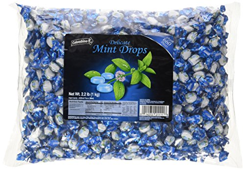 Colombina Delicate Blue Mini Mint Drops, 2.2 Pound
