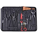 GHP Carbon Steel 14-Piece In One Bonsai Tool Kit W Heavy Duty Nylon Case