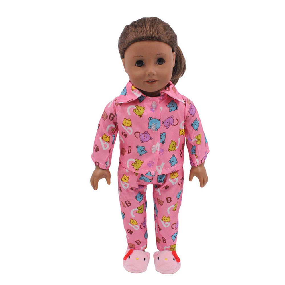 fb2efcf18ba6a Gbell 18インチ人形パジャマ Our Generation American Girl Doll Clothes 18インチベビー 女の子 人形