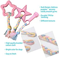 5-Pack Pink Puppy Chew Toys for Small Dogs Volacopets Puppy Toys for Teething