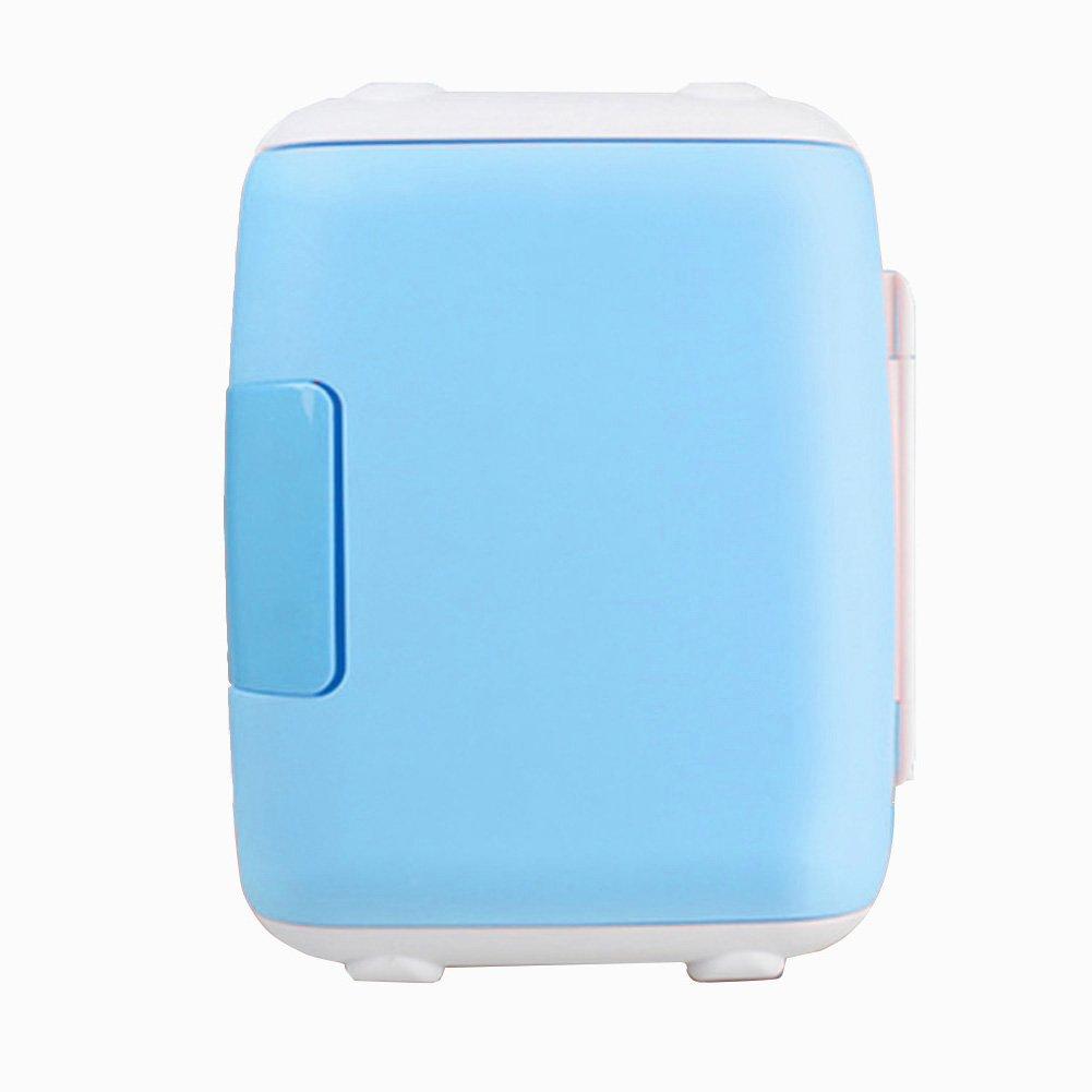 LIQICAI 4L Mini Kühlschrank 1 Tür Heizen Und Kühlen Zwei Anwendungen 12V 230V (Farbe : Blau)