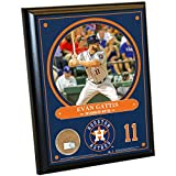 "MLB Houston Astros Evan Gattis Plaque with Game Used Dirt from Minute Maid Park, 8"" x 10"", Navy"
