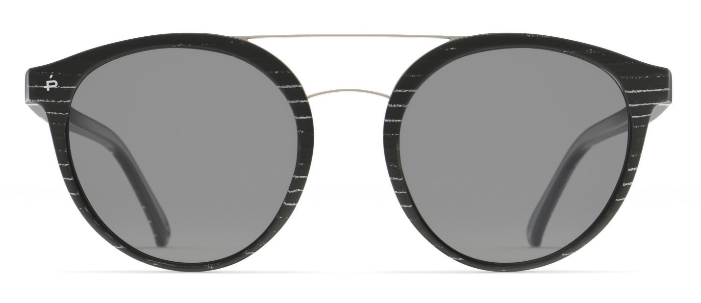 PRIVÉ REVAUX Places We Love Collection''The Texan'' Polarized Handcrafted Designer Round Sunglasses (Matte Black/White Mirror) by PRIVÉ REVAUX