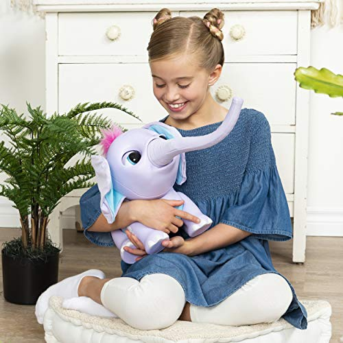 51vJR0s3uyL - Wildluvs Juno My Baby Elephant with Interactive Moving Trunk & Over 150 Sounds & Movements