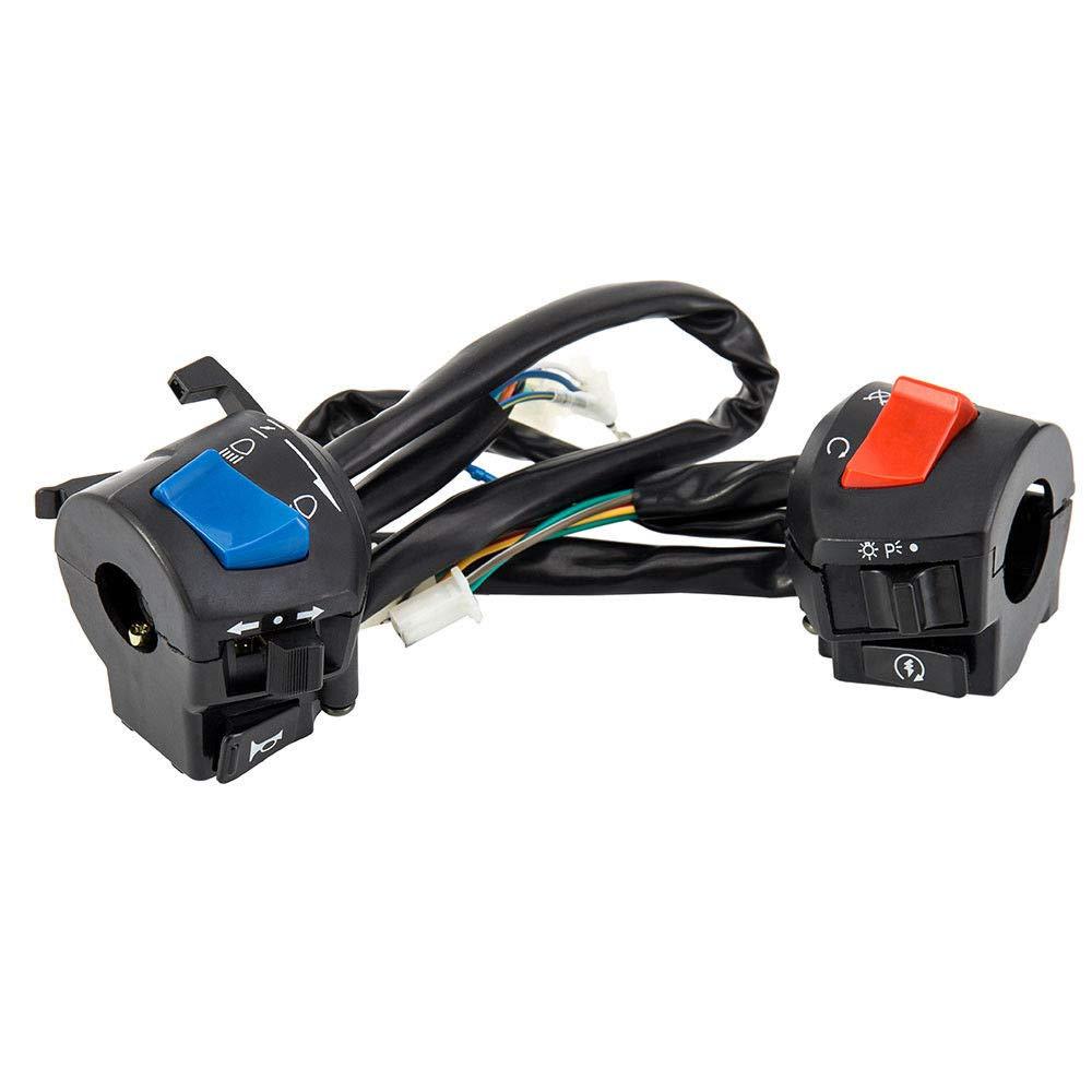 /Bocina de Moto LanLan Interruptor de Faro de luz Intermitente on//Off DE 7//8/PO Universal para/