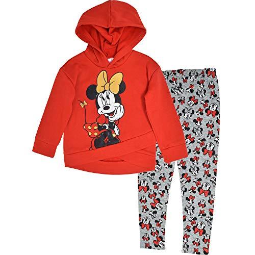 Disney Girls' Minnie Mouse 2-Piece Fleece Hoodie and Leggings Clothing Set