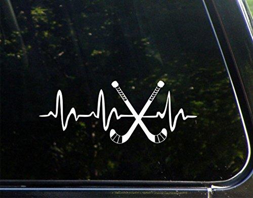Hockey Sticks Lifeline- Vinyl Die Cut Decal / Bumper Sticker For Windows, Trucks, Cars, Laptops, Macbooks, Etc.