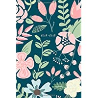 "2018-2019, 18 Month Weekly & Monthly Planner | 2018-2019: Navy Floral, July 2018 - December 2019, 6"" x 9"""