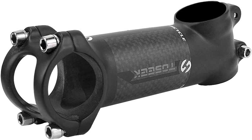 TOSEEK Carbon Fiber MTB Road Bike Handlebar Stems 7Degree Bike Stem 60-110mm