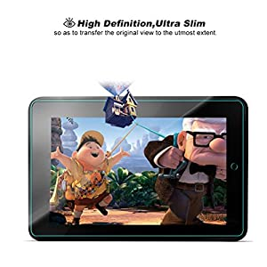 Fire HD 10 [2015 Release Only] Glass Screen Protector, GARUNK Tempered Glass Screen Protector for Fire HD 10-inch [9H Hardness] [Crystal Clear] [Scratch Resist] [Bubble Free Install]