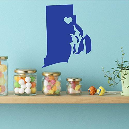 State Decals - Rhode Island Vinyl Wall Art, 13th State, Providence Rhode Island, New England, Hope, Little (New Hope Halloween)