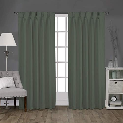 Magic Drapes Home Double Pinch Pleated Blackout Curtains Window Panels 52×63