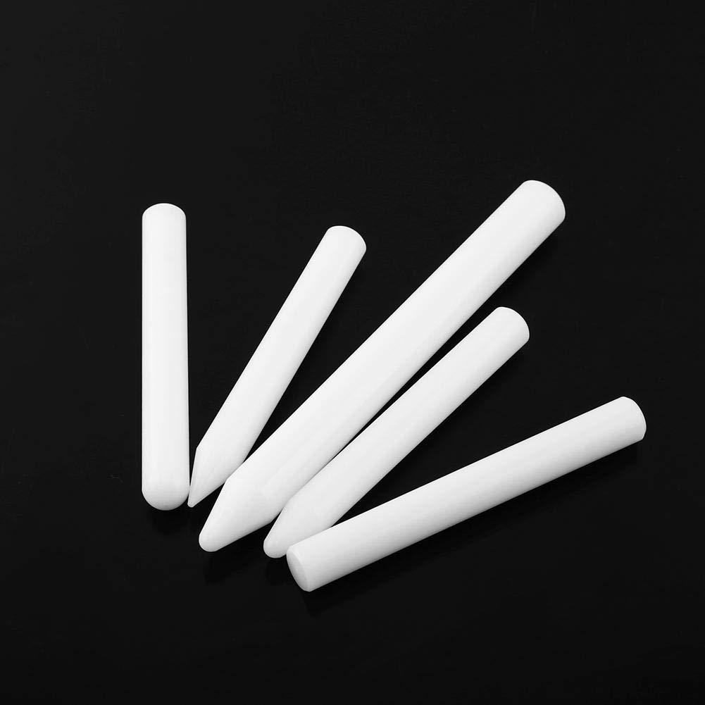 Keenso Tools Knock Down Tool Tap Down Pen Nylon Tap Down Pen Paintless Hail Removal Dent Repair Tools 5 pcs White