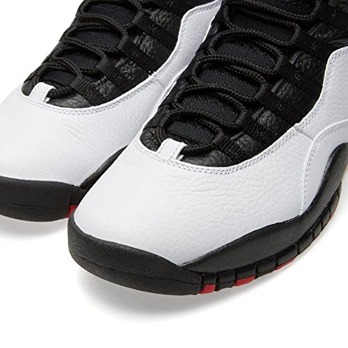 Nike Herren Air Jordan Retro 10 Basketballschuhe, Grau Bianco, Nero-vero Rosso