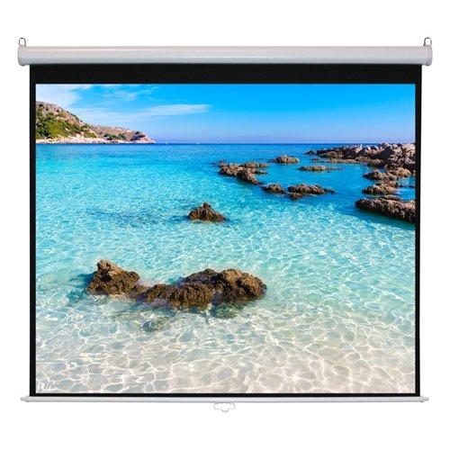 Hamilton Buhl 92'' Diag. (45x80) Manual Projector Screen, HDTV Format, Matte White Fabric by Hamilton Buhl