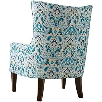 Amazoncom 510 Design Madison Park Carissa Shelter Wing Chair Grey