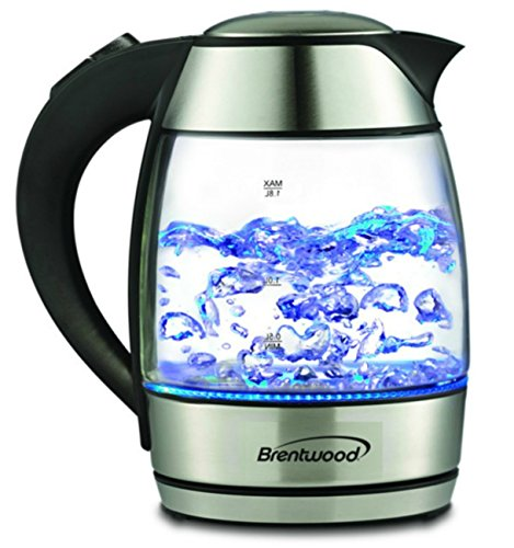 1.8-liter Electric Cordless Glass Kettle With Tea Infuser Bo