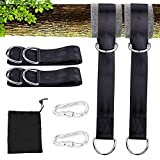 AUKUK Tree Swing Hanging Kit (Set Of 2) Holds 440 LBS Extra Long 15 inche Straps + 2 Tree Protectors + 2 Carabiners Sorage bag Swing Sets,Tree Swings, Hammock & Tire Swing Outdoor goods