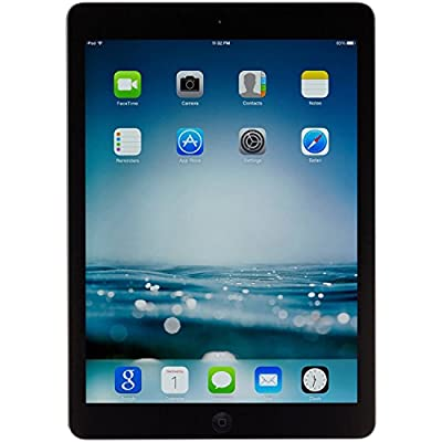 Apple iPad Air MD786LL/A - A1474 (32GB, Wi-Fi, Black with Space Gray) (Certified Refurbished) by Apple