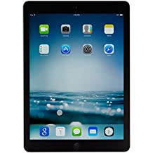 Apple iPad Air MD786LL/A (32GB, Wi-Fi, Black with Space Gray) (Renewed)