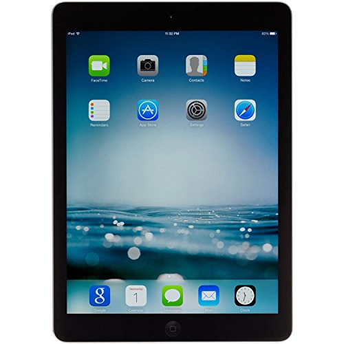 Apple iPad Air MD786LL/A - A1474 (32GB, Wi-Fi, Black with Space Gray) (Renewed)