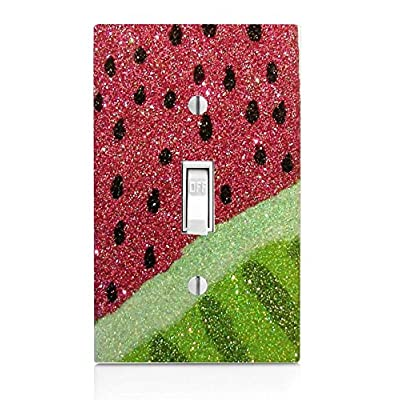 Trendy Accessories Decorative Watermelon Design Print Image Plastic Light Switch Wall Plate Cover. Screws Included.: Home & Kitchen