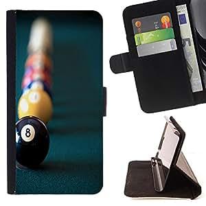 Dragon Case- Caja de la carpeta del caso en folio de cuero del tir¨®n de la cubierta protectora Shell FOR Sony Xperia Z1 M51W Z1 mini D5503- Snooker Pool Ball American Pool