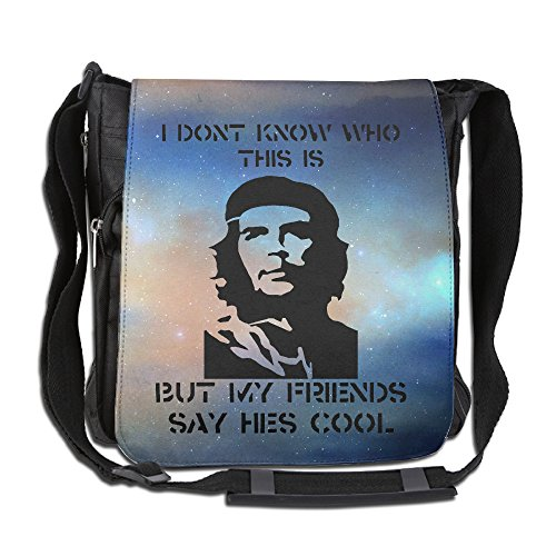 School Janitor Costume (BakeOnion Che Smile Guevara Messenger Bag Traveling Briefcase Shoulder Bag For Adult Travel And Business Trip)
