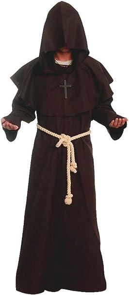Disfraz de monje del renacimiento con capucha: Amazon.es: Ropa y ...