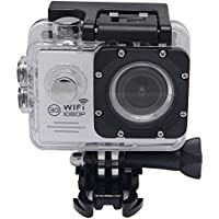 Mcoplus 2.0 Inch 30m Waterproof Wifi Action Sports Camera SJ7000 1080P 170 Degree Wide Angle Lens Helmet HD Sports Action Cam with Free Accessories Kit (White)