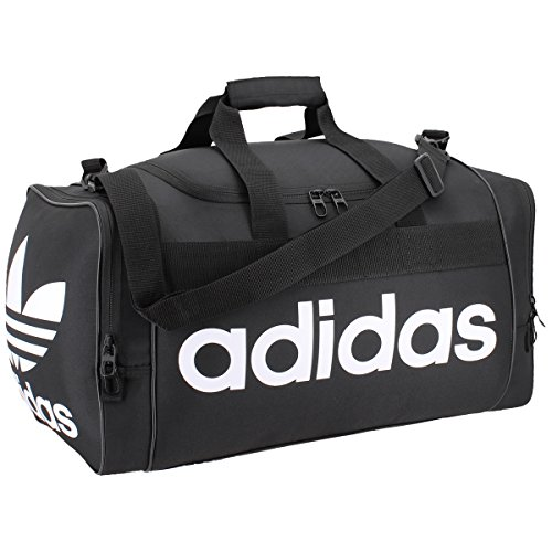 adidas Originals Santiago Duffel Bag, Black/White, One Size