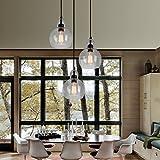 HMVPL 3-Lights Antique Glass Chandelier Pendant