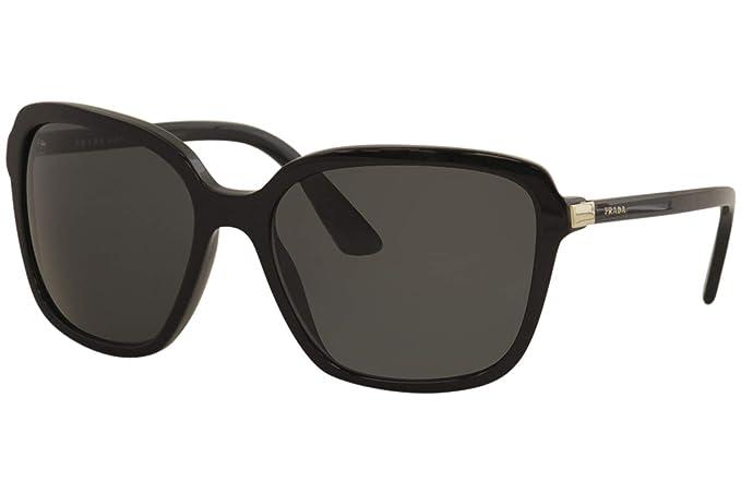 Prada 0PR 10VS Gafas de sol, Black, 58 para Mujer