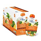 Plum Organics Stage 3, Organic Baby Food, Carrot, Spinach, Turkey, Corn, Apple and Potato, 4 ounce pouches (Pack of 6)