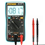 Acekool Digital Multimeter,Portable 6000 Counts Auto Ranging Multi Tester Non Contact Voltage Detection OHM/Hz/Temp/Duty Cycle AC/DC Measuring Tester With Backlight LCD Display