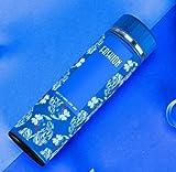 Blue Flower Bottle Insulated Flask Travel Mug For Lady 15Oz