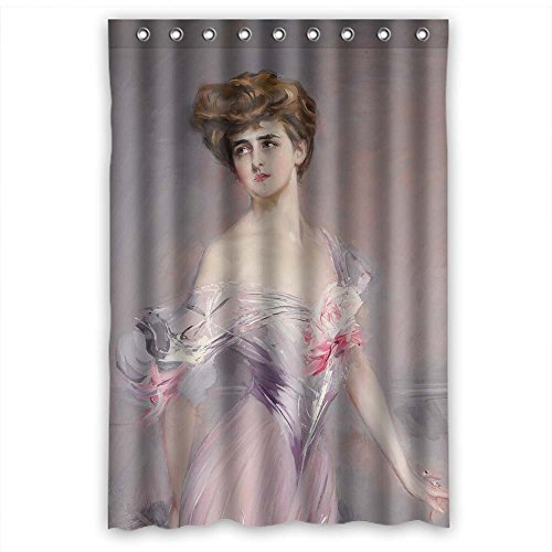 PILZOO Width X Height / 48 X 72 Inches / W H 120 By 180 Cm Polyester Giovanni Boldini Art Painting Bath Curtains Fabric Is Fit For Husband Girls Boys Hotel Her. Durable (Tan Damask Shower Curtain)
