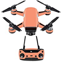 Skin for DJI Spark Mini Drone Combo - Solid Peach| MightySkins Protective, Durable, and Unique Vinyl Decal wrap cover | Easy To Apply, Remove, and Change Styles | Made in the USA