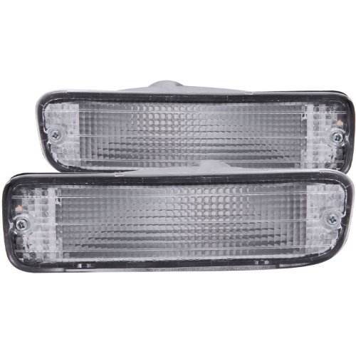 Anzo USA 511018 Toyota Tacoma Chrome Clear w/Amber Reflectors Bumper Light Assembly – (Sold in Pairs)