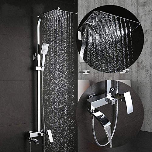 CHUNSHENN セットバスタブ蛇口バスタブの蛇口シャワー混合栓風呂シャワーの蛇口は、ヘッドウォールミキサーtorneiraタップシャワー滝シャワー バス用品