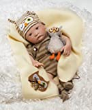 Lifelike Baby Doll, Hoot! Hoot!, 16-inch GentleTouch Vinyl with Weighted Body, Baby & Kids Zone