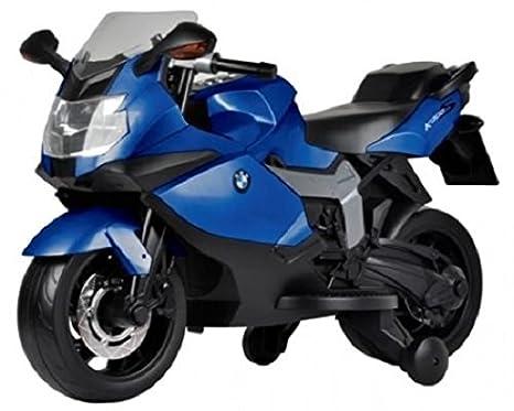 BABYCAR 283bl - Moto eléctrica para niños BMW K 1300 S con ruedas incluidas, 12 V, azul: Amazon.es: Juguetes y juegos