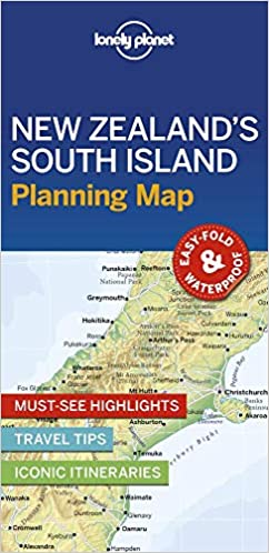 New Zealand Must See Map.Lonely Planet New Zealand S South Island Planning Map Amazon Co Uk