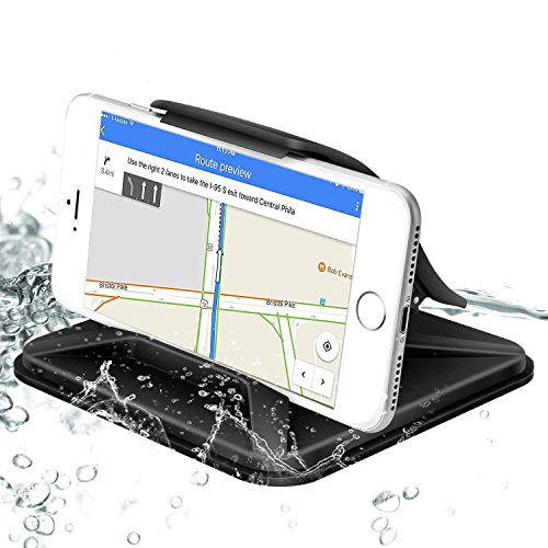 (Cell Phone Holder for Car Universal Dashboard Mounts Silicone Non-Slip Washable GPS Holder Car Cradles for iPhone X 8 7 6 5Plus Samsung Galaxy Note 8 S8 Plus S7)