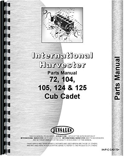 Lawn Tractor Parts Manual - International Harvester Cub Cadet 105 Lawn and Garden Tractor Parts Manual