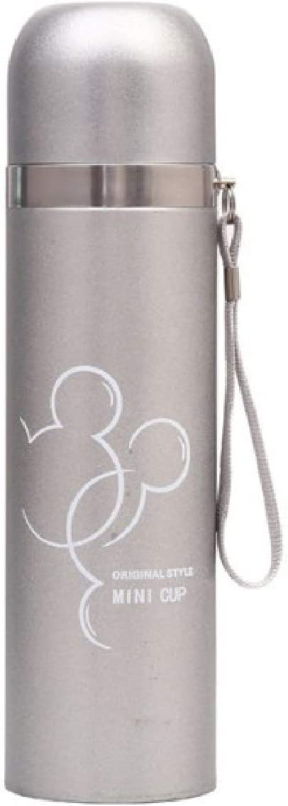 Best Stainless Steel Thermos Bottle BPA Free - Hot Coffee or Cold Tea + Drink Cup Top - Perfect for Office, Camping and Outdoors - Thermos Vacuum Insulated 17 Ounce (Thermos line, 500 ml)