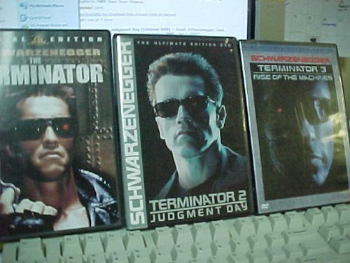 - The Terminator Trilogy : The Terminator , T2 Judgement Day, T3 Rise of the Machines : Arnold Schwarzenegger 3 Pack Collection