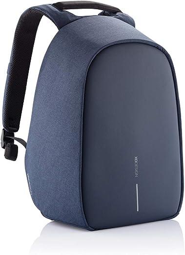 XD Design Bobby Hero Small Anti-Theft Backpack Navy Blue USB Unisex Bag